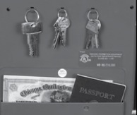 Built-in Key Holder and Passport Rack